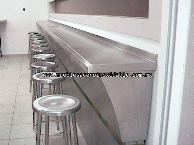 Repisas garabatos y bancos de acero inoxidable for Muebles para bano acero inoxidable